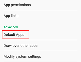 how to change and remove default apps from android