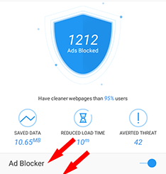 Turn On Ad Blocker For UC Browser Android
