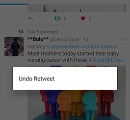 how to delete retweet