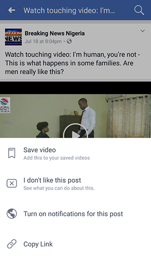 Facebook video on mobile without any software
