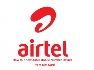 How to Know Airtel Mobile Number Details from SIM Card