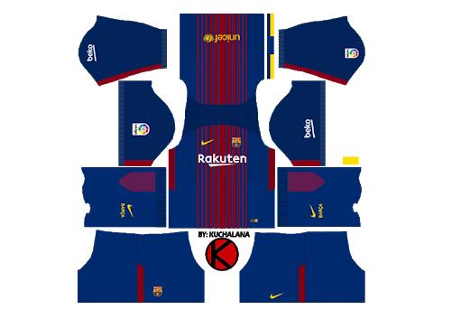 DLS 18 Kits Barcelona: 2018 Dream League Soccer Barcelona